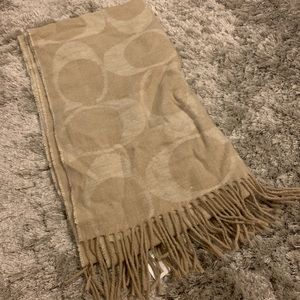 Tan coach scarf